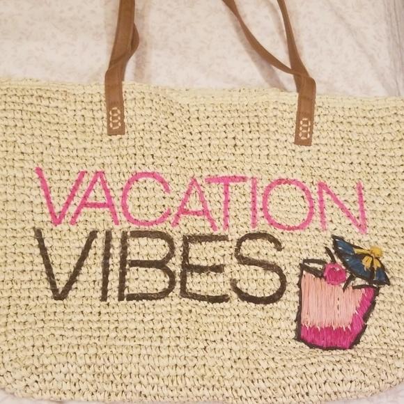 INC International Concepts Handbags - INC Vacation Vibes Straw Tote Bag New